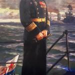 А.В. Трескин. Портрет адмирала В.Ф. Трибуца, 1945 г.